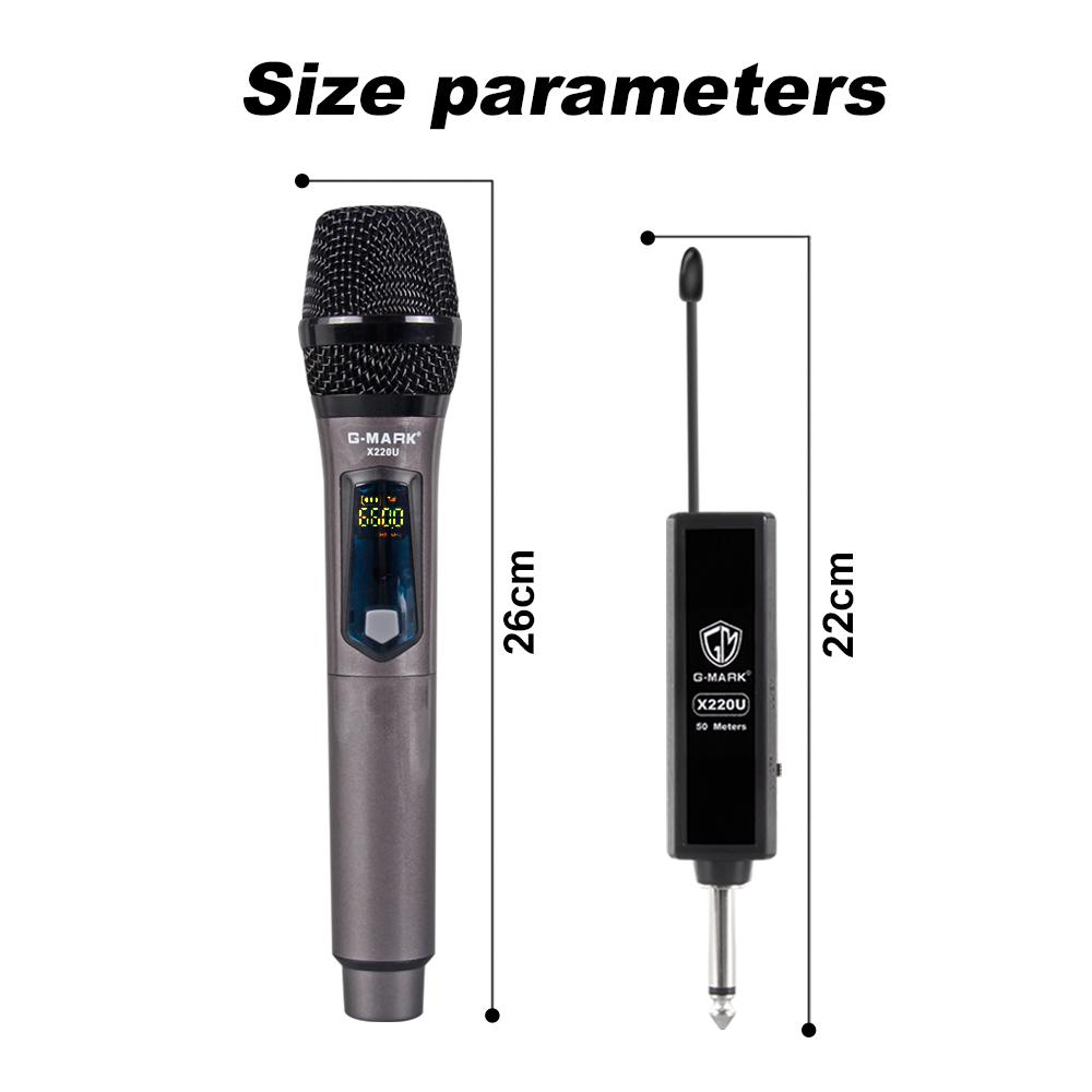 G Mark X220u Uhf Karaoke Microphone Rechargeable Wireless Microphone Handheld 741416158526 Ebay