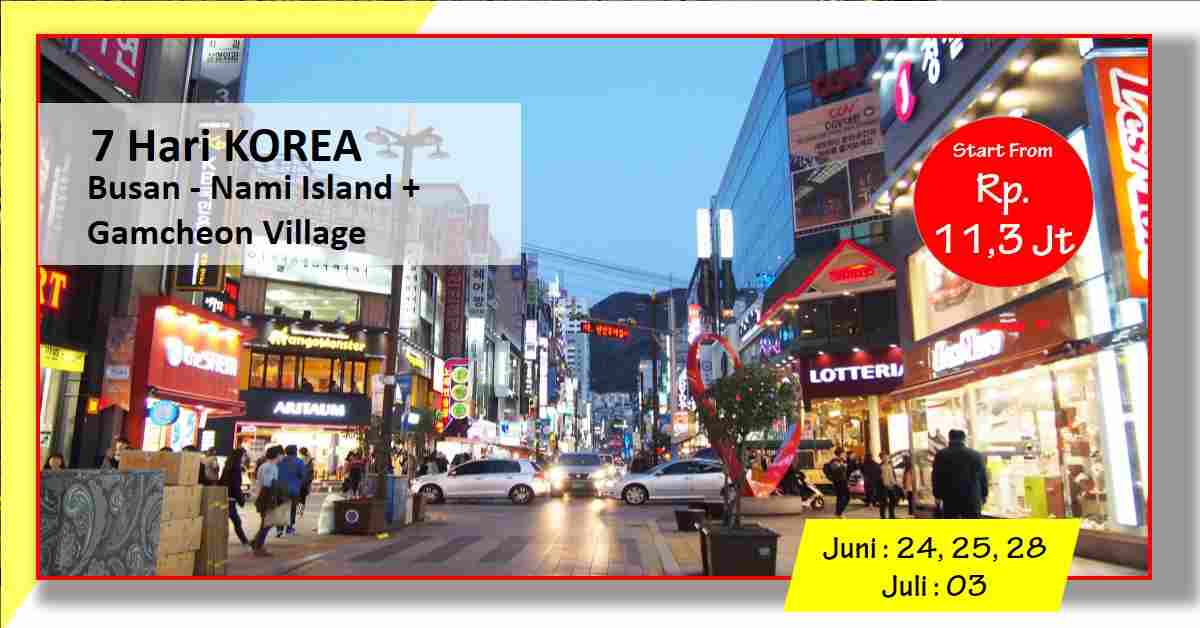 jual 7D GAMCHEON VILLAGE - Seoul Busan - Nami ISland Juni - Juli 2020