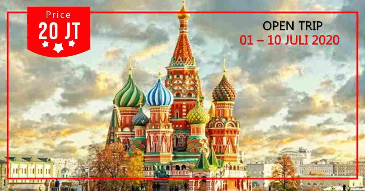 jual 10D Trip Rusia & St. Petersburg 01 - 10 Juli 2020