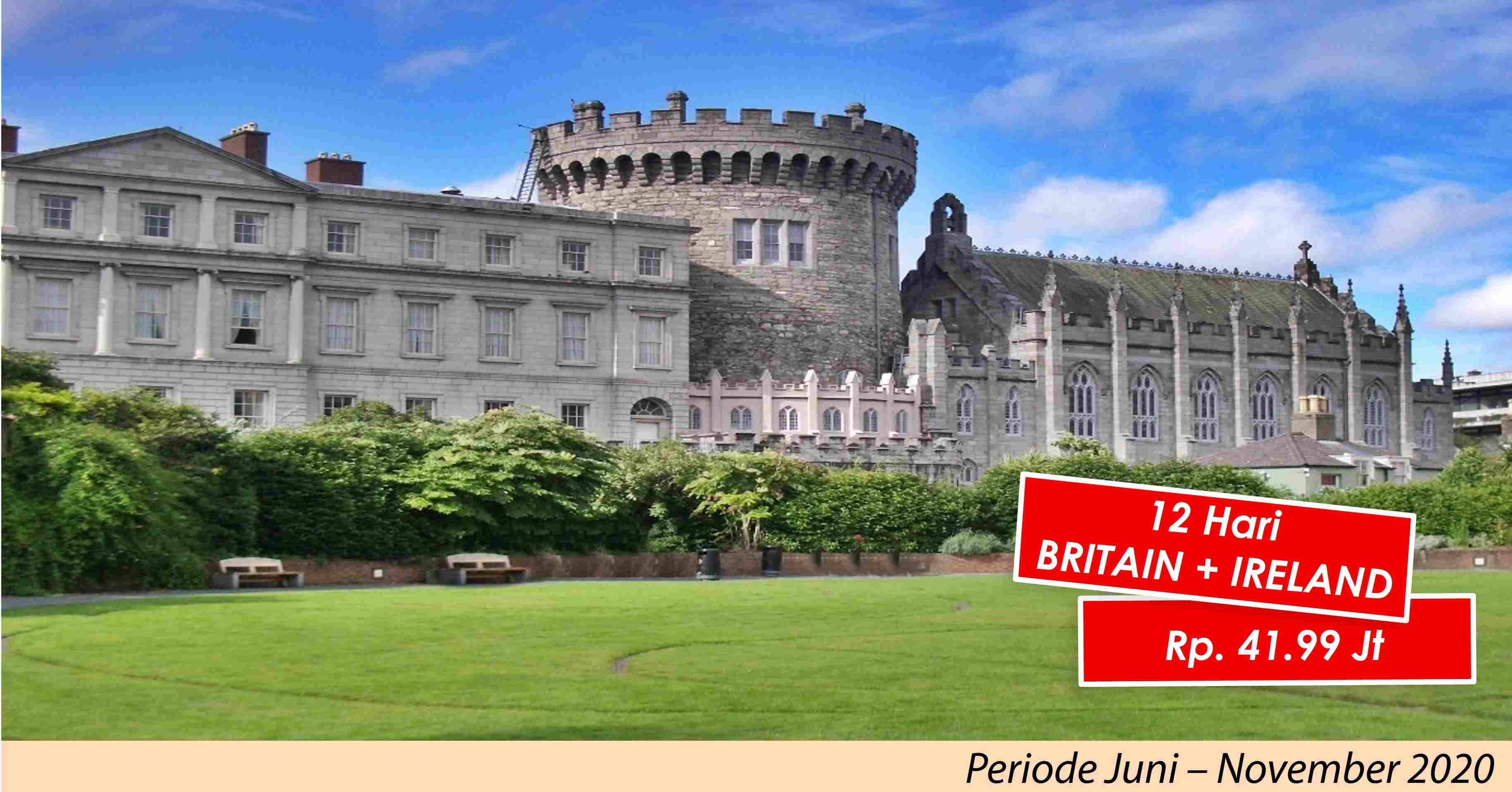 jual 12D Britain + IRELAND Juni - November 2020