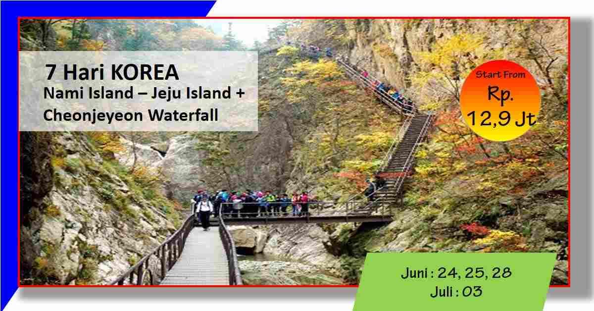 jual 7D Hari Korea CHEONJIYEON WATERFALLS + Nami Island - Jeju May 2020