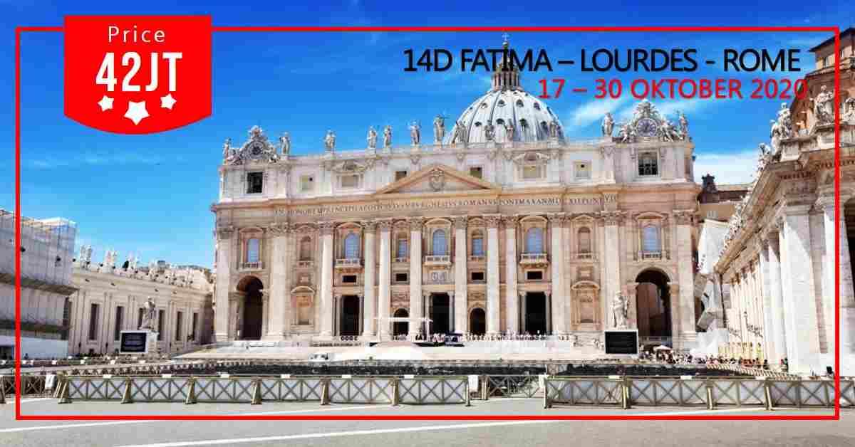 jual 14D FATIMA - LOURDES - ROMA