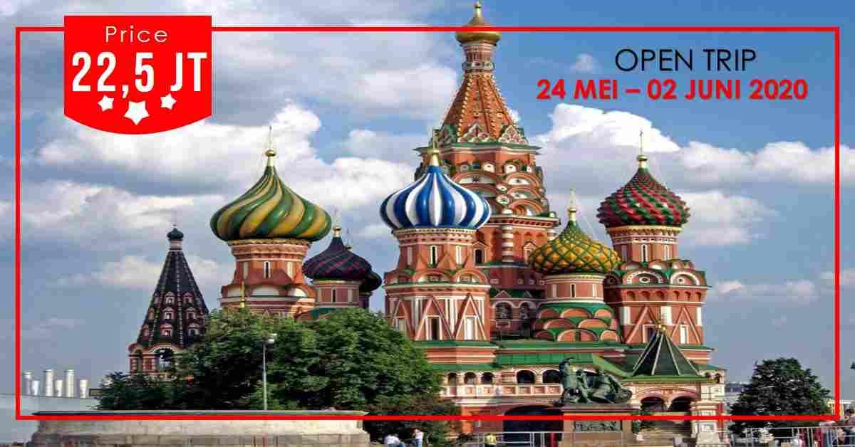jual 10D Trip Rusia & St. Petersburg 24 Mei - 02 Juni 2020