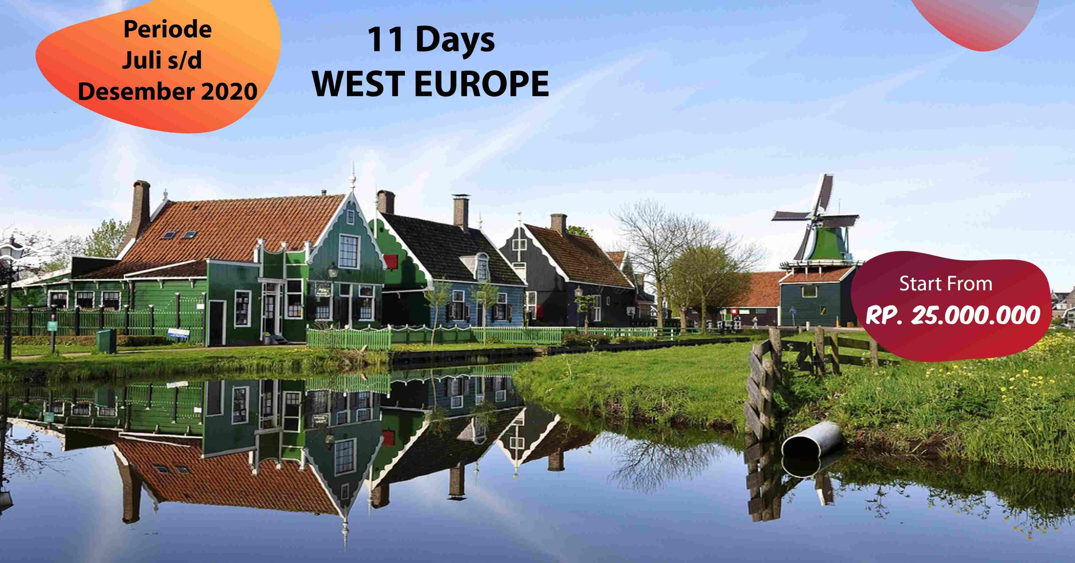 jual 11D WEST EUROPE JULI - DESEMBER 2020