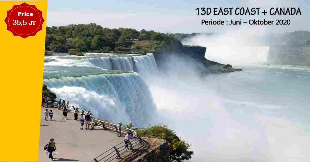 jual 13D EAST COAST + Canada Juni - Oktober 2020