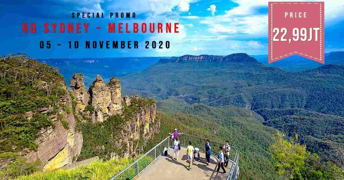 jual 6D Sydney Melbourne 05 - 10 November 2020
