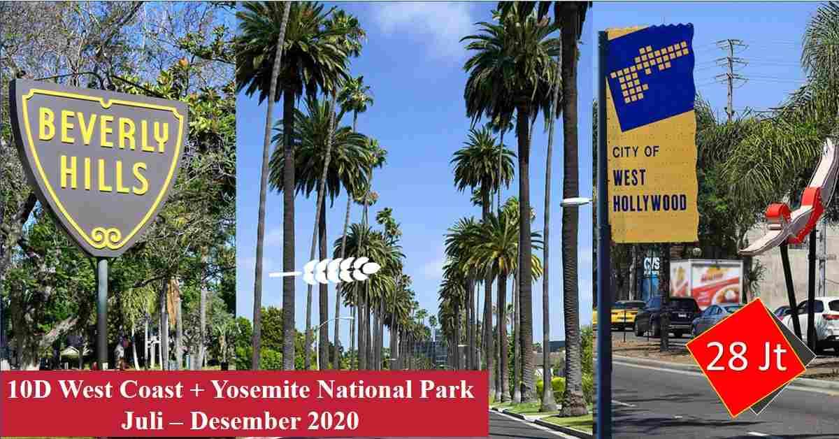 jual 10D WEST COAST + Yosemite National Park Juli - Desember 2020