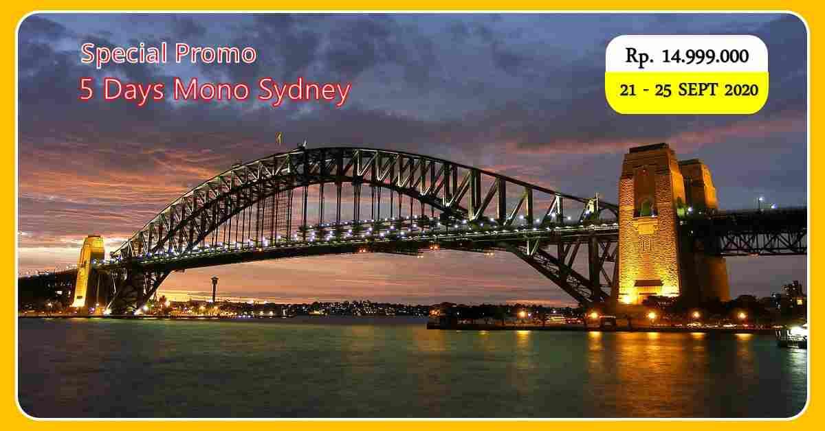 jual 5D Mono Sydney 21 - 25 September 2020