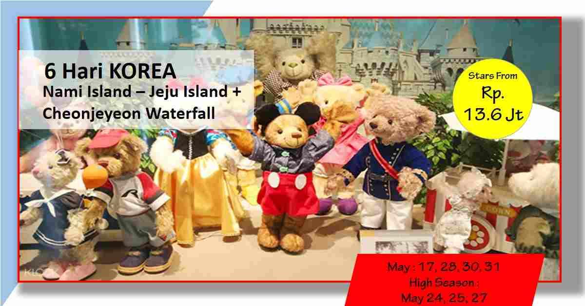 jual 6D Korea CHEONJIYEON WATERFALLS + Nami Island - Jeju May 2020