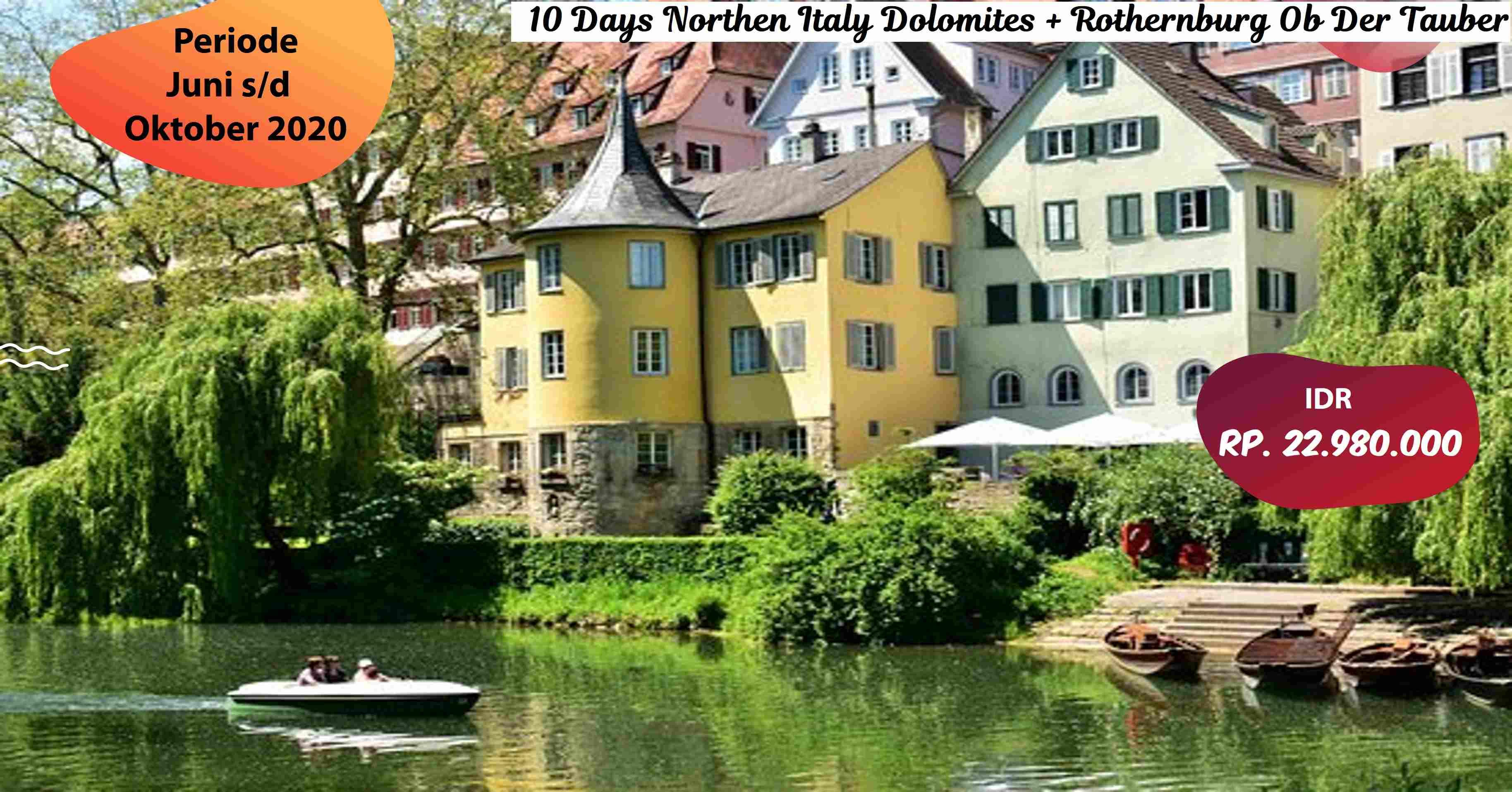 jual 10 Days Northen Italy Dolomites Rothernburg Ob Der Tauber