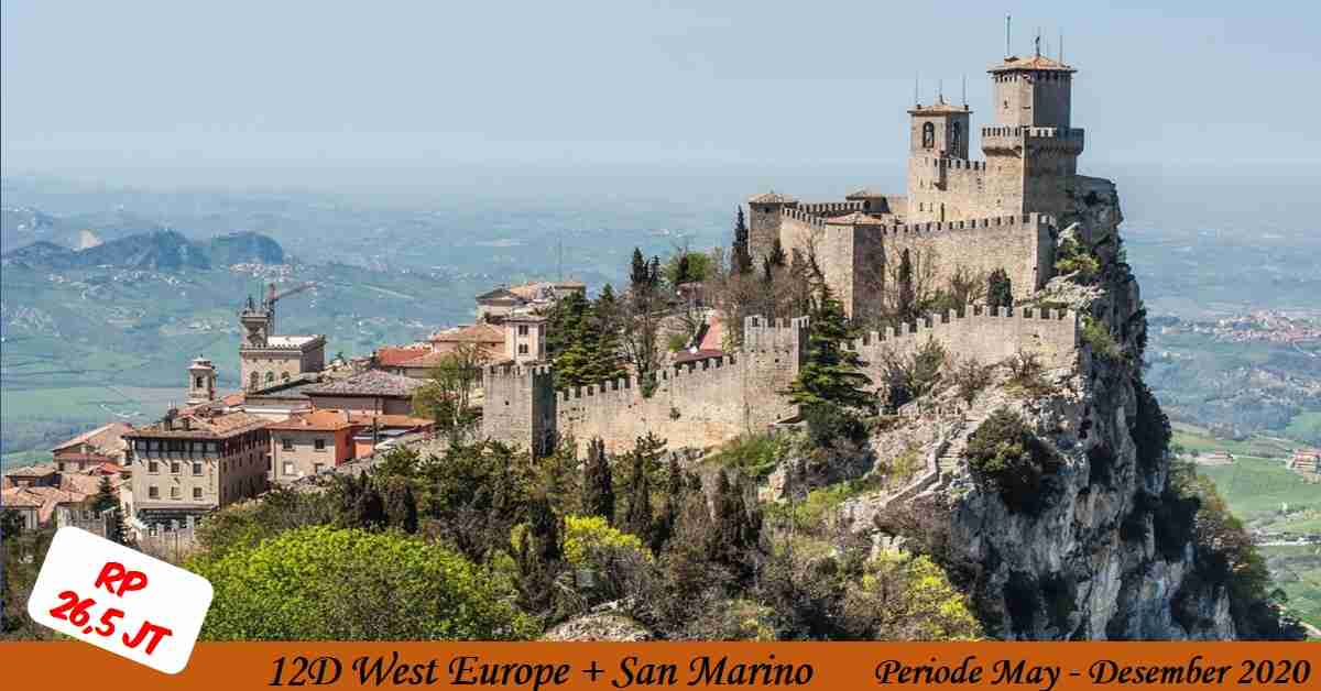 12D West Europe + SAN MARINO May - Desember 2020