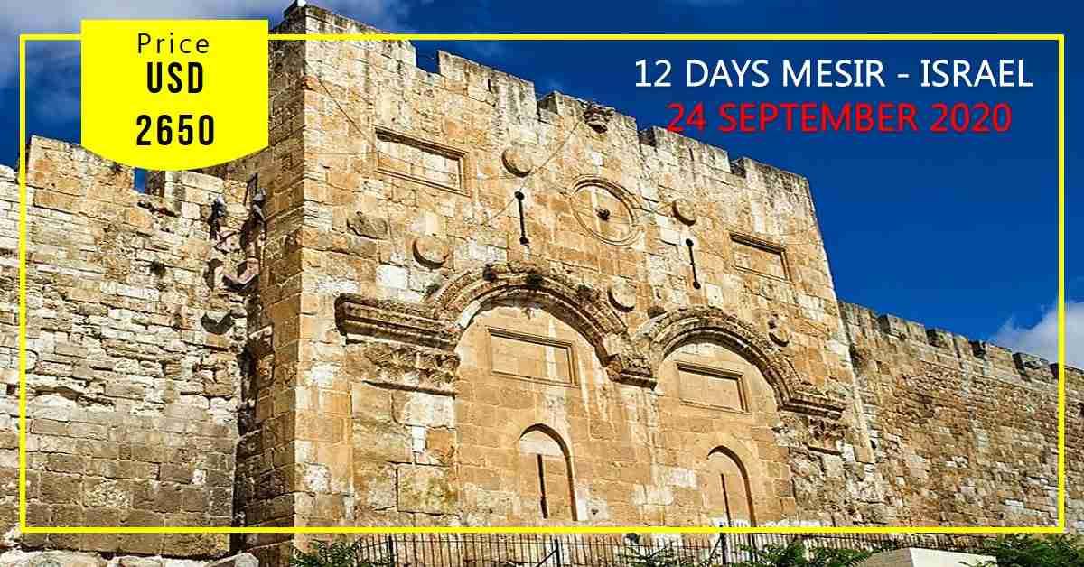 12D Mesir - Israel 24 September - 05 Oktober 2020