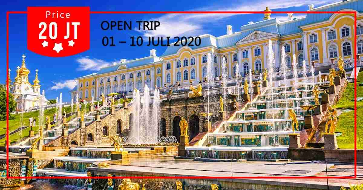 10D Trip Rusia & St. Petersburg 01 - 10 Juli 2020
