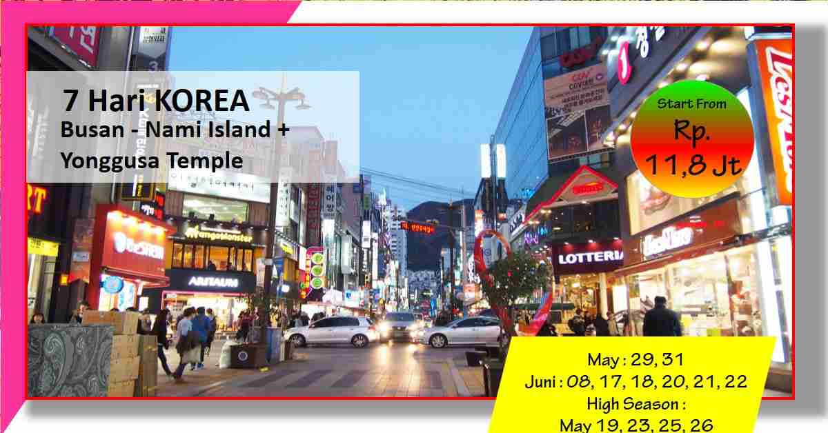 7D YONGGUNGSA TEMPLE -+ Seoul Busan - Nami Island May - Juni 2020
