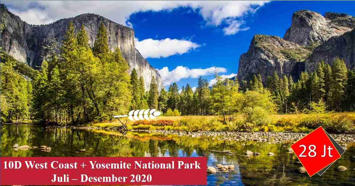 10D WEST COAST + Yosemite National Park Juli - Desember 2020