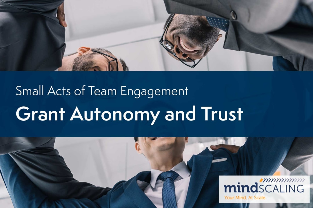 Small Acts of Team Engagement: Grant Autonomy and Trust