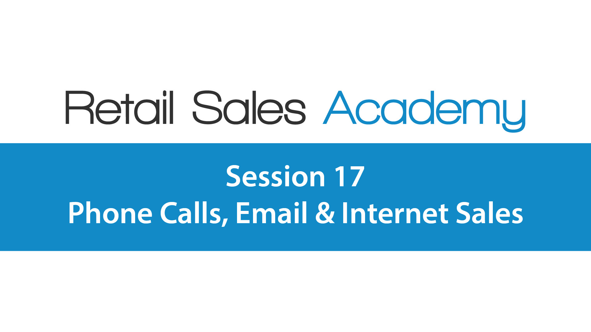 Phone Calls, Email & Internet Sales