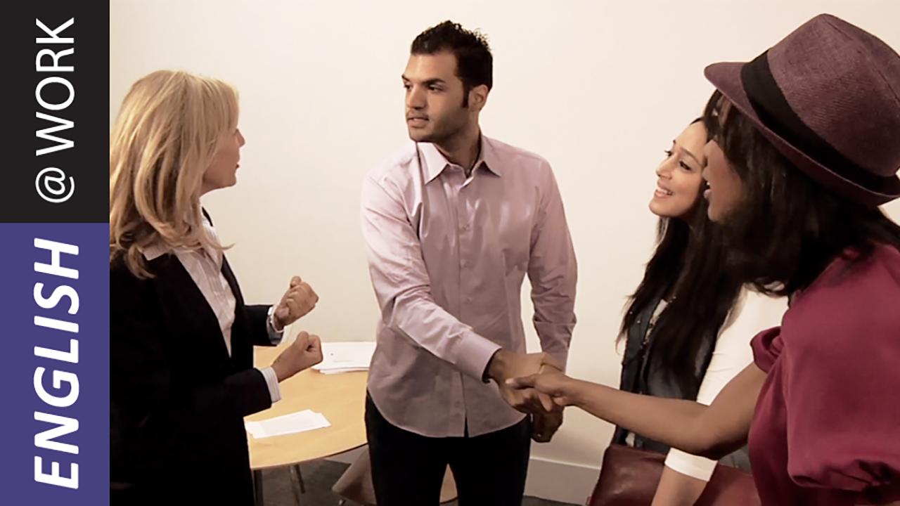 Greeting and Introducing - English at Work image