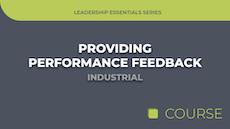 Providing Performance Feedback - Industrial Edition