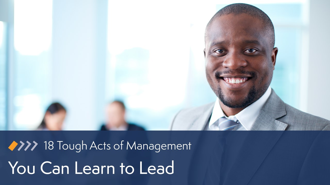 You Can Learn to Lead image