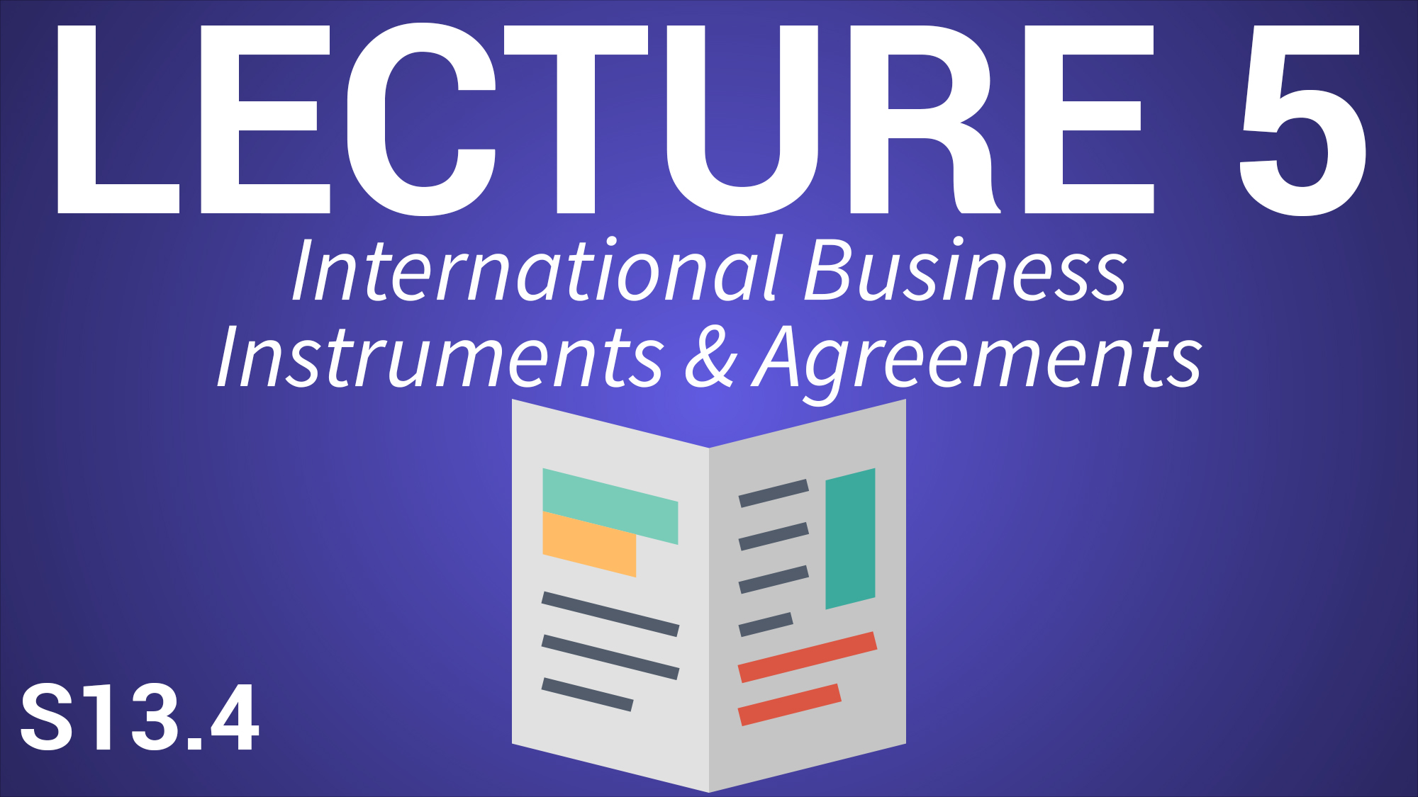 International Business for Managers - Lecture 5 - International Business Instruments and Agreements