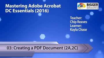 Acrobat DC 2016 - Creating a PDF Document