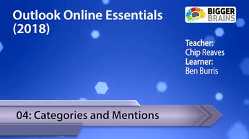 Outlook Online Essentials (2018) 04: Categories and Mentions