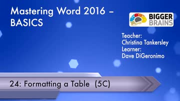 Mastering Word 2016 Basics: Formatting a Table