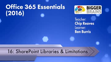 Office 365 Essentials 2016: SharePoint Libraries and Limitations