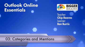 Outlook Online Essentials 2016: Categories and Mentions