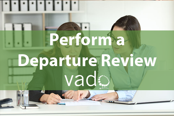 Perform a Departure Review