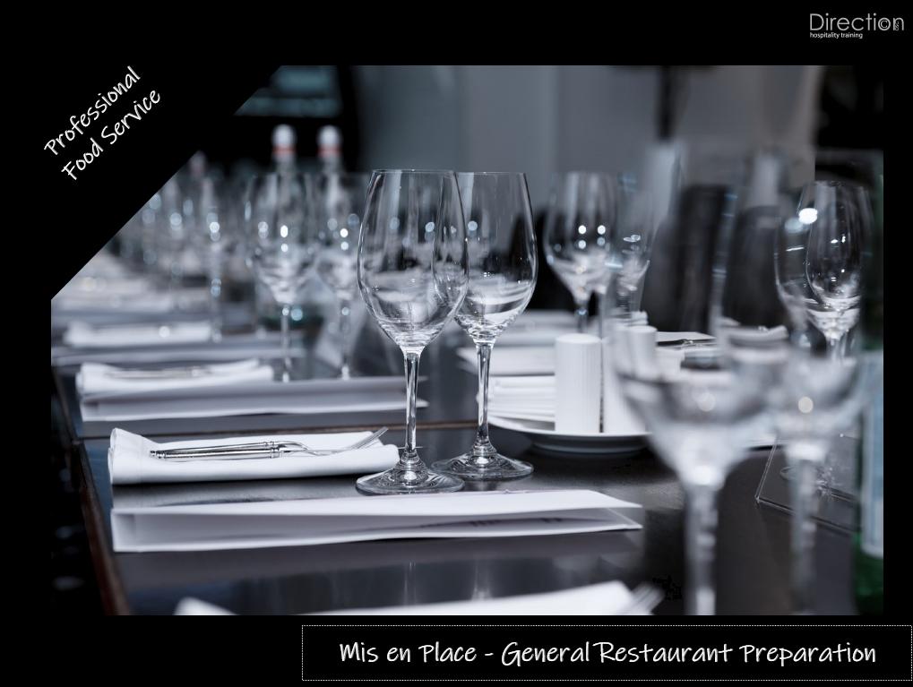 General Restaurant Preparation