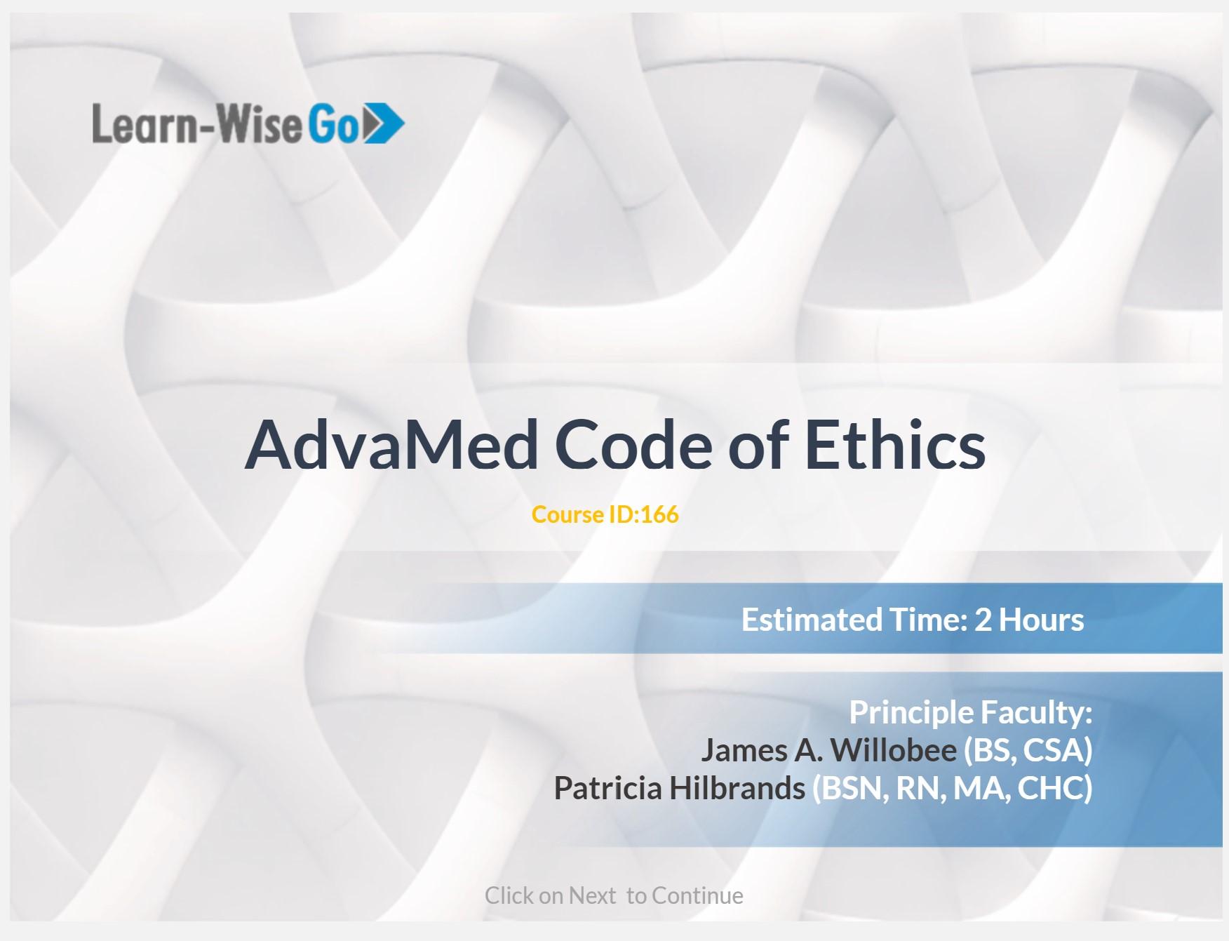 AdvaMed Code of Ethics