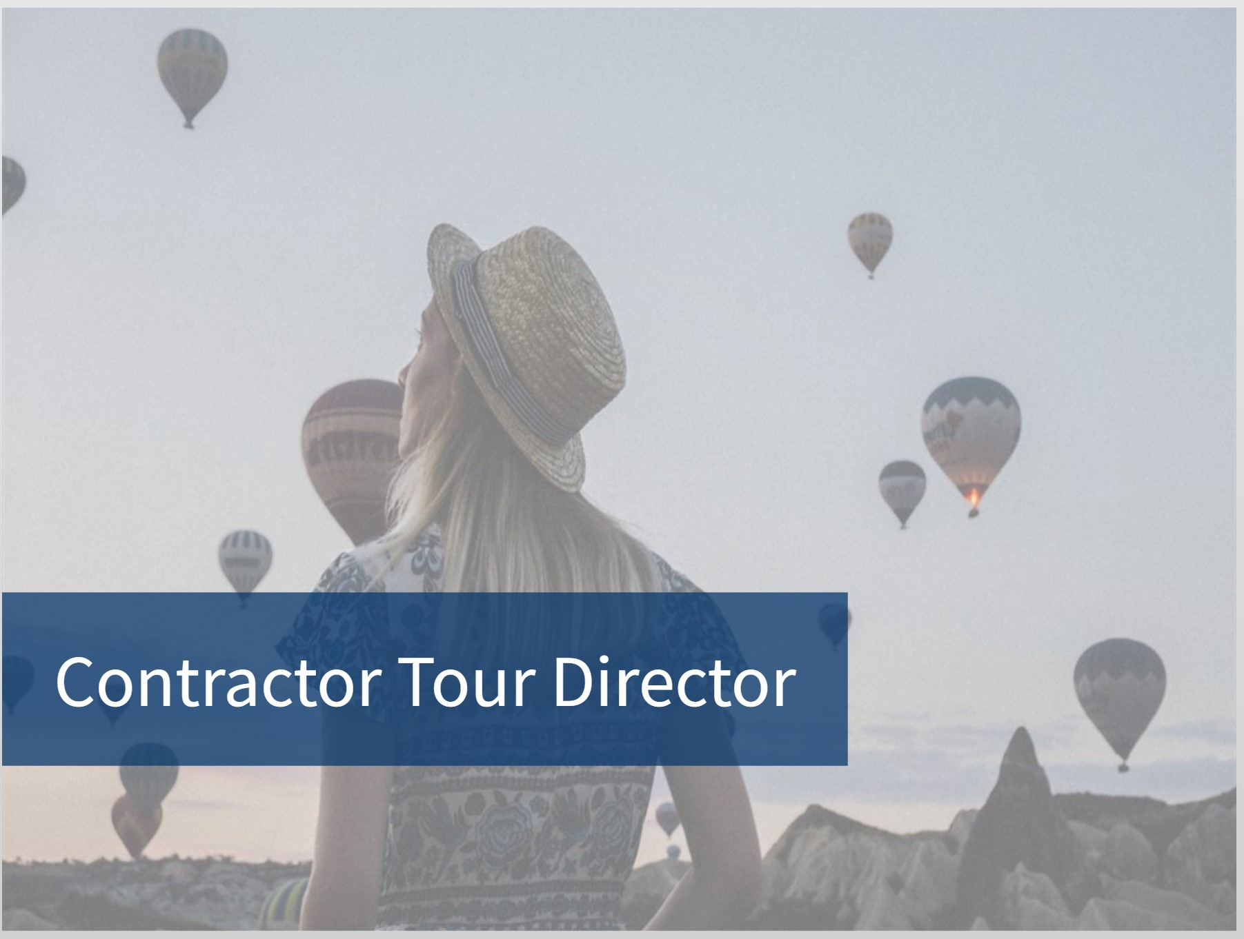 Contracted Tour Director Training