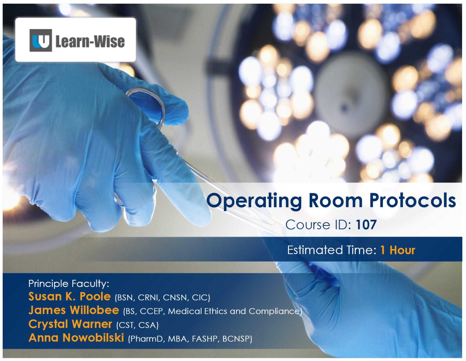 Operating Room Protocol