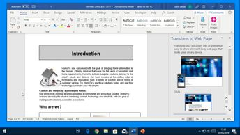 Word Office 365: Using the Publishing Tools