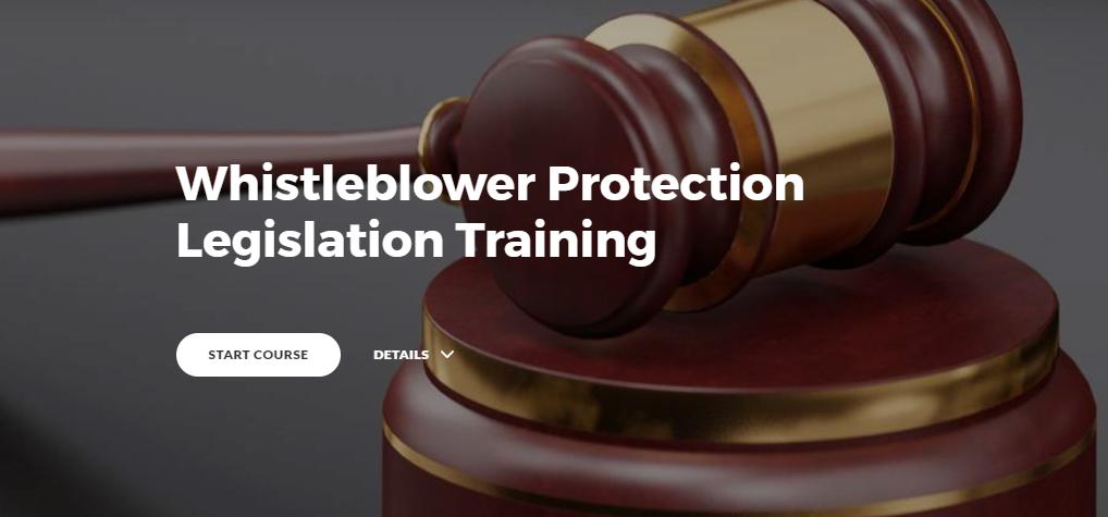 Whistleblower Protection Legislation Training
