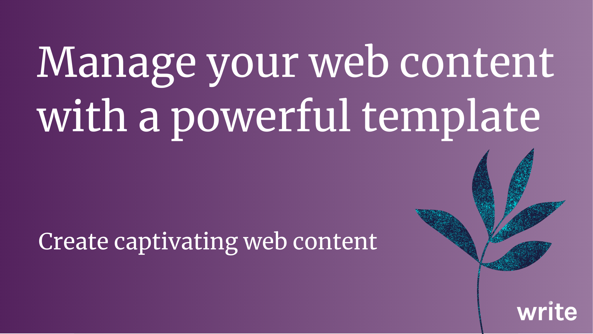Manage your web content with a powerful template image