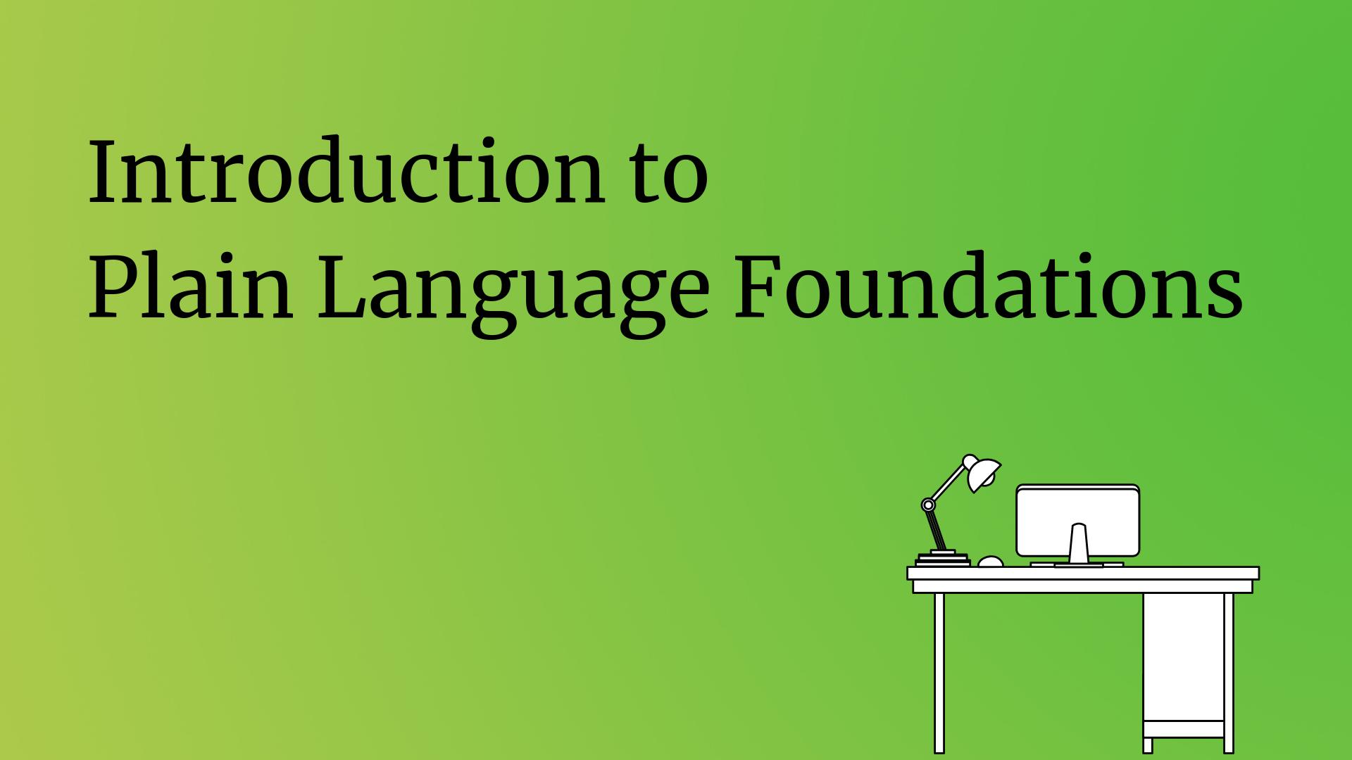Introduction to Plain Language Foundations image