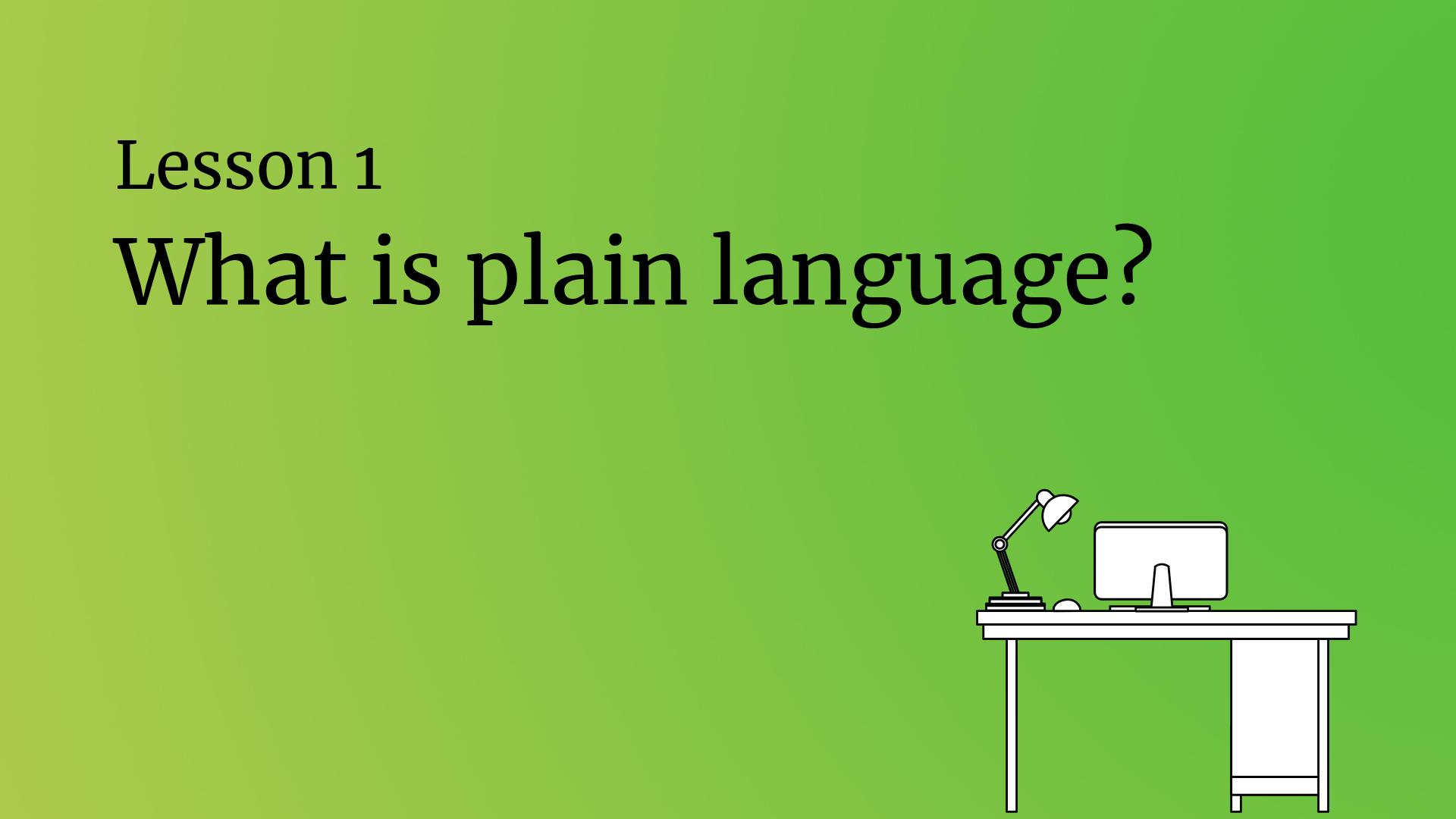 What is plain language?