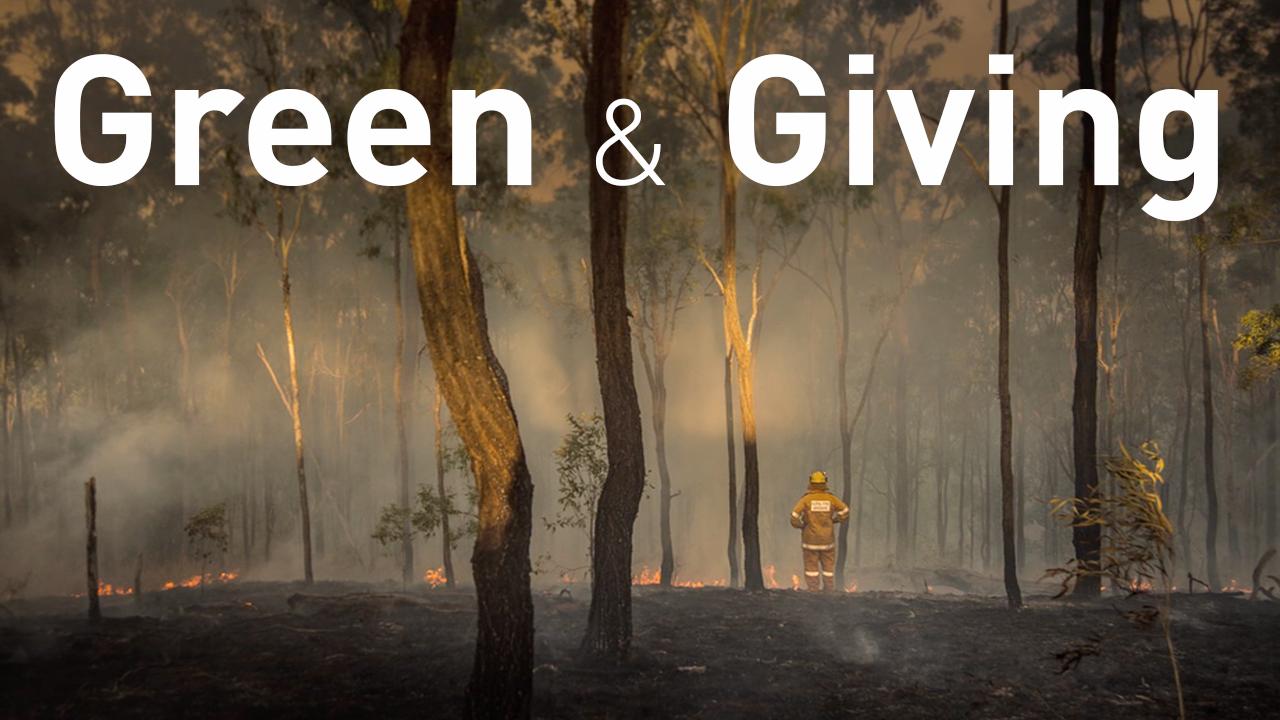 Green & Giving – Interactive image