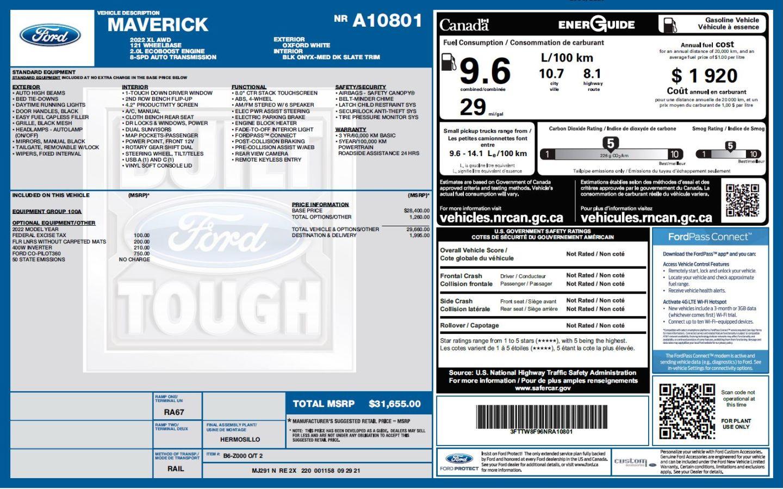 2022 Ford Maverick XL for sale in Peace River, Alberta
