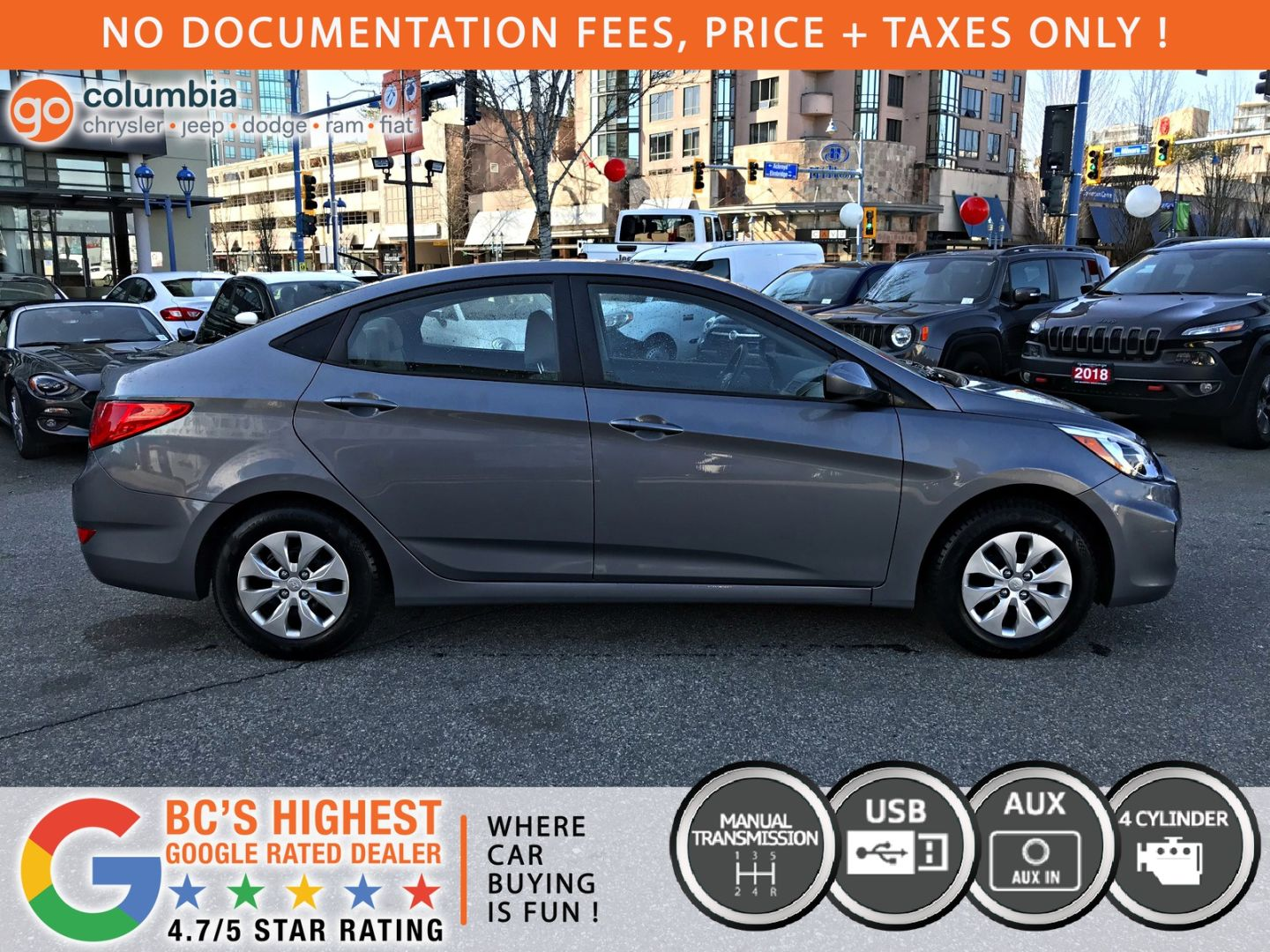 2017 Hyundai Accent L for sale in Richmond, British Columbia