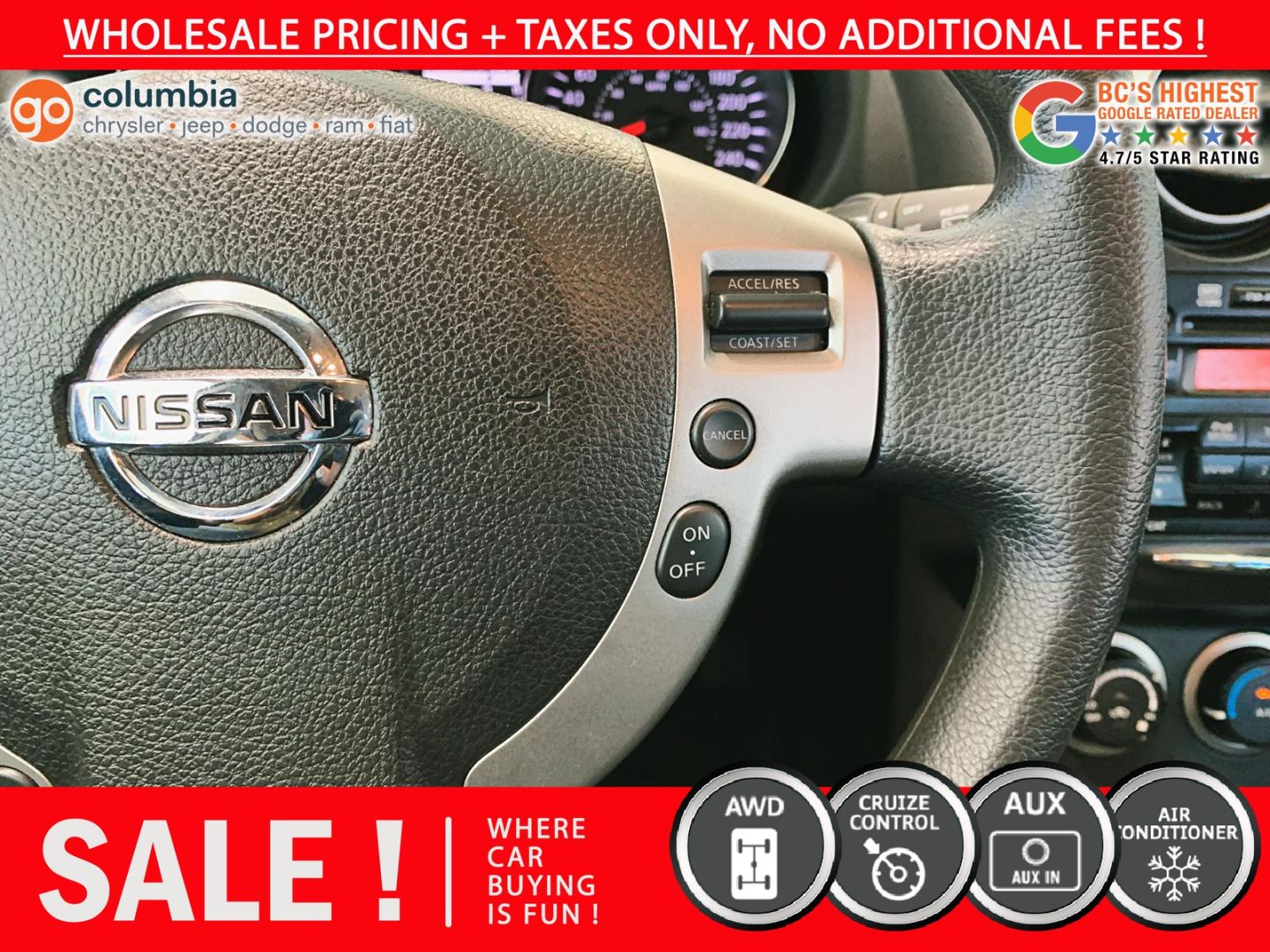 2012 Nissan Rogue S for sale in Richmond, British Columbia