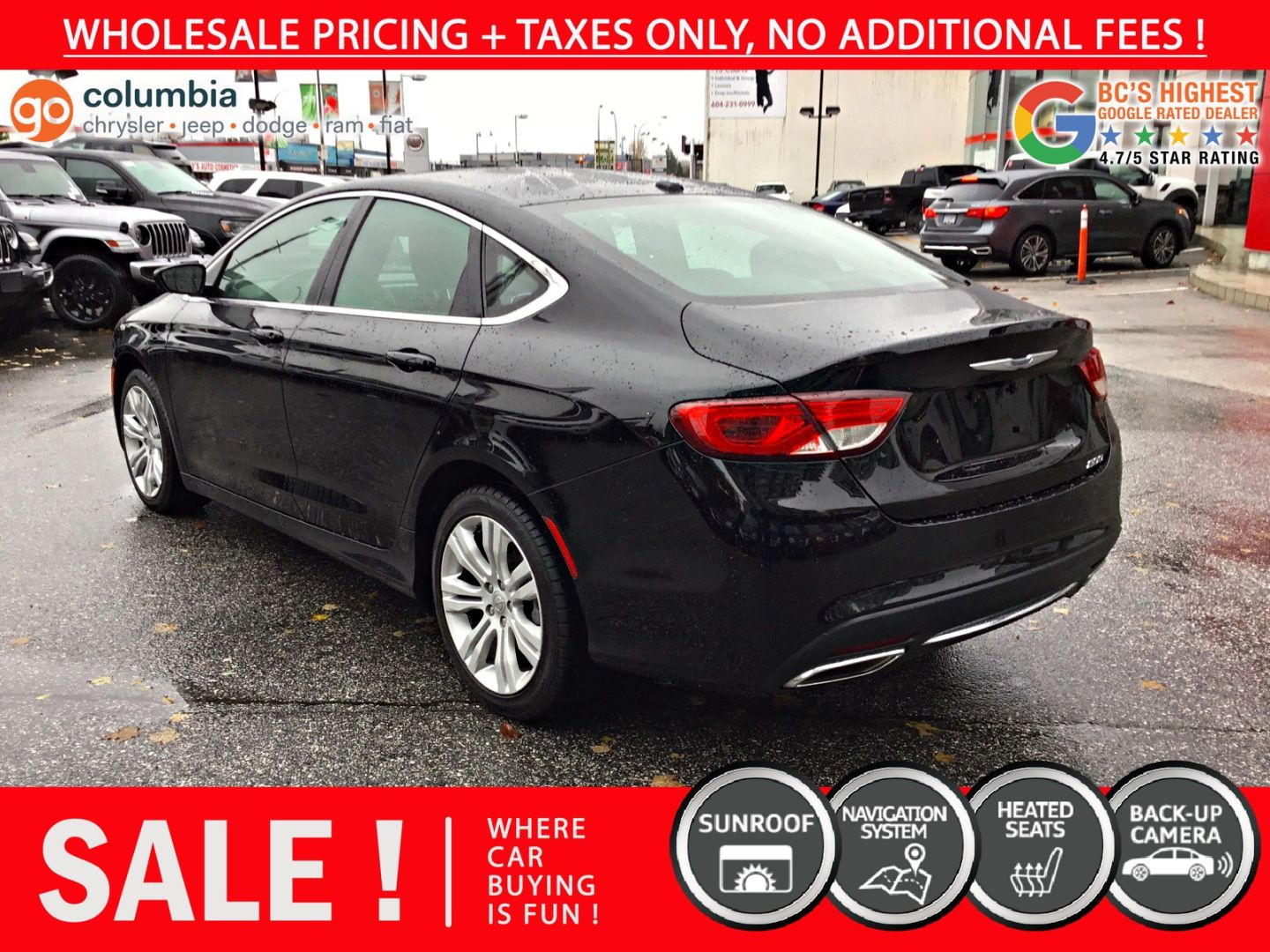 2016 Chrysler 200 Limited for sale in Richmond, British Columbia