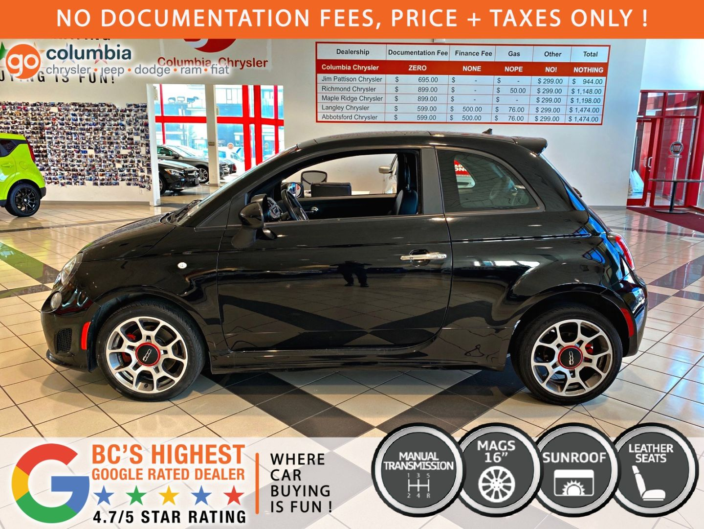 2014 FIAT 500 Sport Turbo for sale in ,