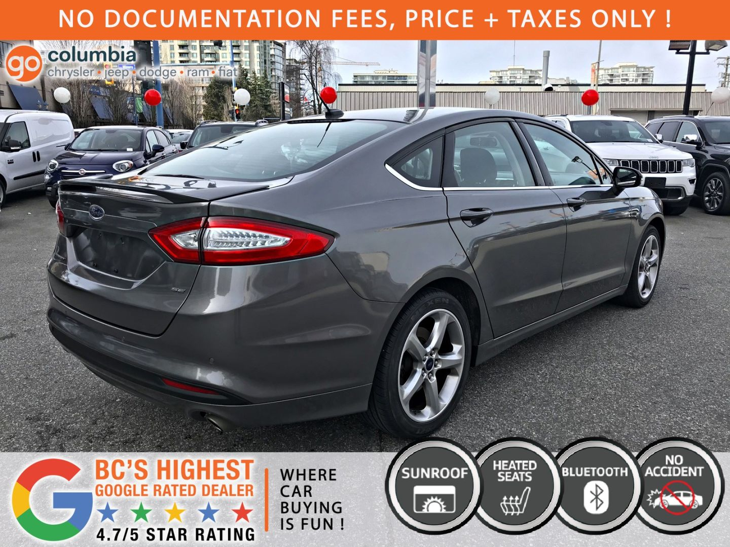 2014 Ford Fusion SE for sale in Richmond, British Columbia