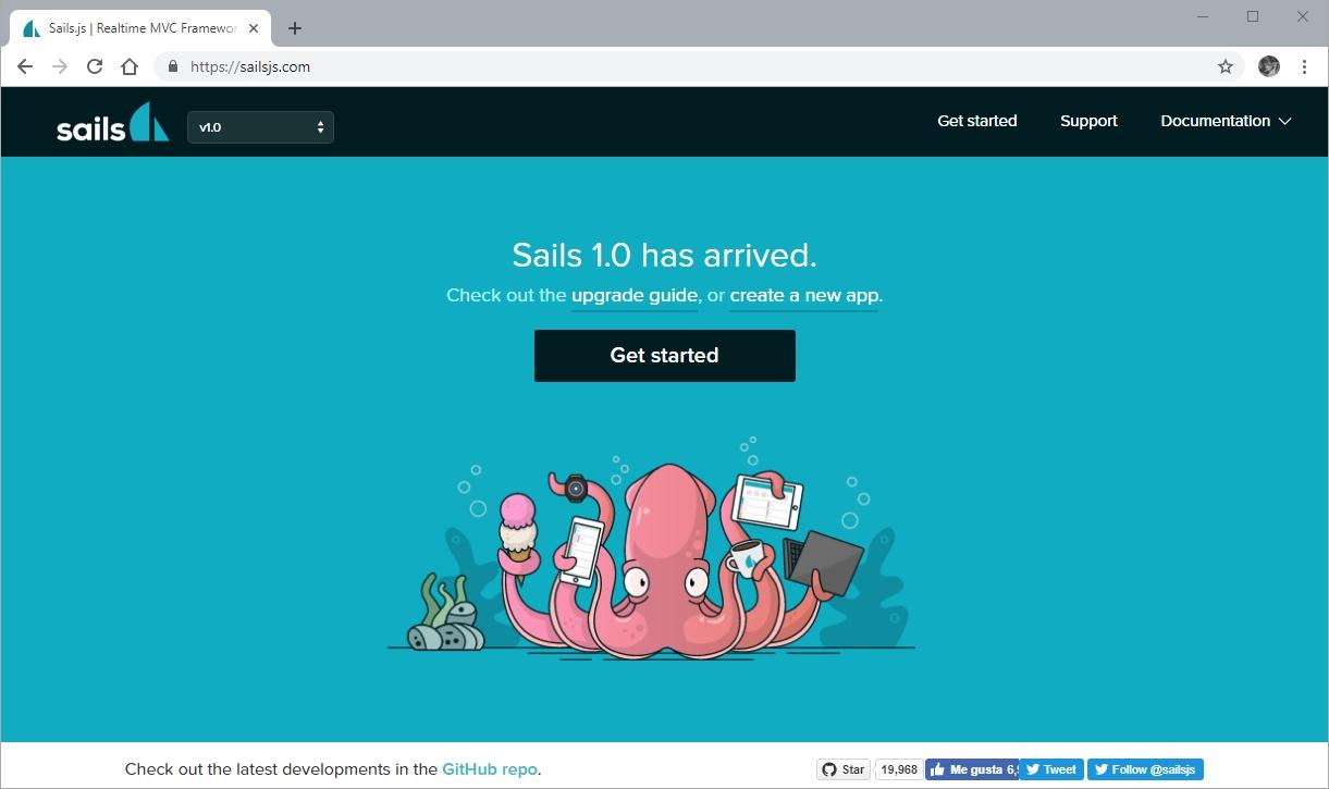 Node Framework Sails.js