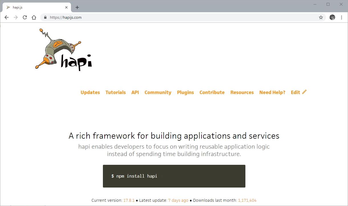 Node Framework Hapi.js