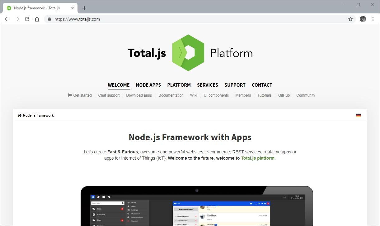 Node Framework Total.js